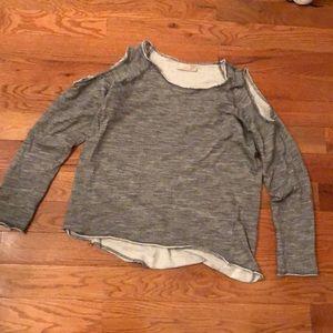 Nation cold shoulder sweatshirt